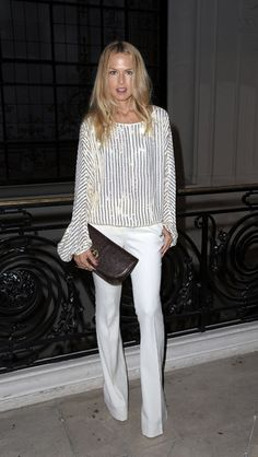 Rachel Zoe... I want this whole outfit! LOVE!! White on white is on trend.