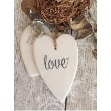 Love ceramic heart £1.50