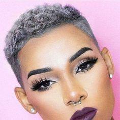 Natural Hair Short Cuts, Short Natural Haircuts, Black Women Short Hairstyles, Tapered Natural Hair, Short Grey Hair, Short Hair Cuts, Natural Hair Styles, Cut Hairstyles, Short Pixie