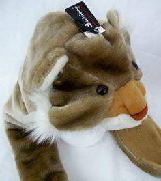 Bear Hat Unisex Adult Animal Faux Fur Scarf Combo