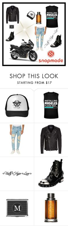 """""""Snapmade9/5"""" by fatimazbanic ❤ liked on Polyvore featuring MSGM, AllSaints, DCWV, Alexander McQueen, BOSS Hugo Boss, men's fashion and menswear"""