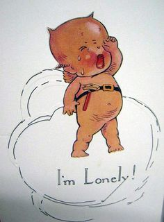 Vintage Kewpie Print by Vintage Greeting Cards, Vintage Postcards, Vintage Labels, Doll Drawing, Vintage Valentines, Vintage Pictures, Vintage Dolls, Vintage Children, Cute Art