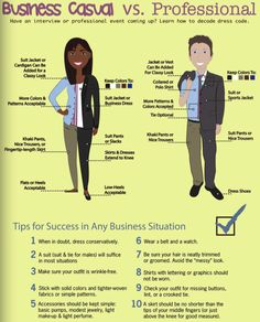 business Casual VS Professional in a much more comparable sense for men and women. They include the different colors and tips for success in any business situation Business Professional Attire, Business Casual Attire, Professional Dresses, Business Dresses, Business Outfits, Business Fashion, Business Formal, Business Attire For Women, Business Casual Shoes Women