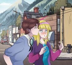 Gravity Falls - Dipper Pines x Pacifica Northwest - Dipcifica Gravity Falls Anime, Reverse Gravity Falls, Gravity Falls Fan Art, Gravity Falls Dipper, Gravity Falls Comics, Dipper Pines, Diper Y Pacifica, Reverse Falls Dipcifica, Dipper And Pacifica