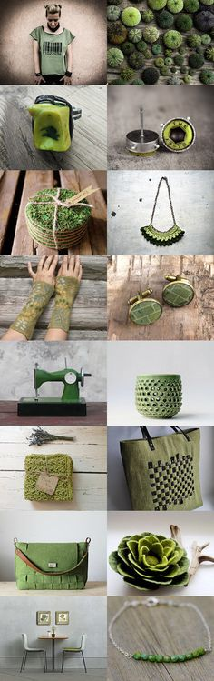 G R E E N   G I F T   F O R   M A Y   by Alessia on Etsy--Pinned with TreasuryPin.com