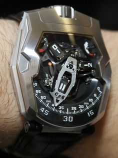 Urwerk UR-210 Watch Hands-On, WOW, just speechless, now there is a technoholic delight if I ever seen one!