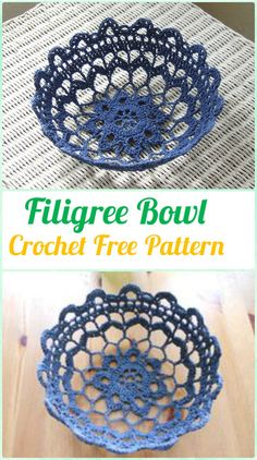Crochet Filigree Bowl Container Free Pattern - Crochet Spa Gift Ideas Free Patterns