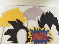 Dragon ball z photo prop sticks 5pc by Decorationsbybelle on Etsy