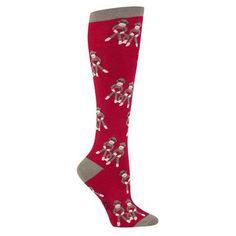 Sock Monkey Knee High Socks