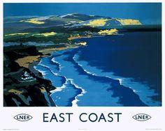 Mason, Frank Henry -- 'East Coast', LNER poster, c 1938. -- High quality art prints, canvases, postcards -- memoryprints.com
