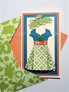 Stamp and Stretch: Stampin Up Dress Up with Matching Hat