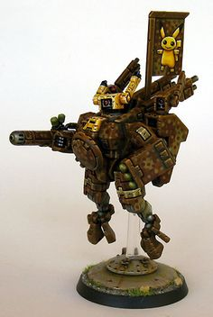 Cool Tau Crisis Suit paint job. #Warhammer40000