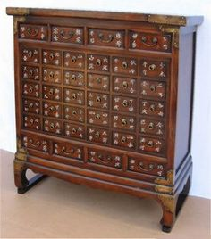 an ancient medicine chest - probably the best storage solution i own!