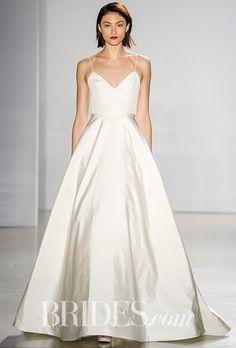 Brides: Amsale Wedding Dresses - Fall 2016 - Bridal Runway Shows - Brides.com