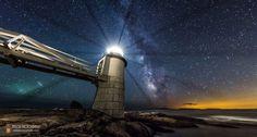 L'image du jour : Voie lactée au phare de la pointe de Marshall, Maine aux USA