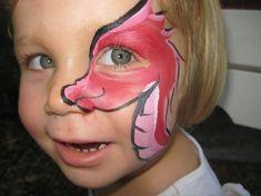 kind als drache schminken rosa niedlich  #fasching #carnival