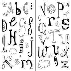 Amazon.com: Inkadinkado Doodle Alphabet Clear Stamps