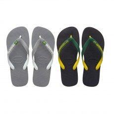 Deze @havaianas Brasil Mix slippers zijn praktische en comfortabele #slippers voor heren.