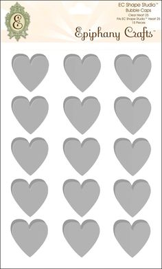 Ephiphany Crafts Clear Bubble Caps-Heart 25, 15/Pkg: Amazon.it: Casa e cucina
