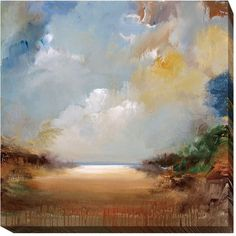 """Rosecliff Heights 'Haven' Oil Painting Print on Wrapped Canvas Size: 18"""" H x 18"""" W x 1.5"""" D"""