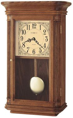 Westbrook quartz wall clock The Westbrook Wall Clock by Howard Miller is finished in Oak Yorkshire on select hardwoods and veneers. Home Wall Decor, Home Decor Furniture, Antique Furniture, Wall Clock Oak, Diy Clock, Chiming Wall Clocks, Howard Miller, Pendulum Clock, Clocks For Sale