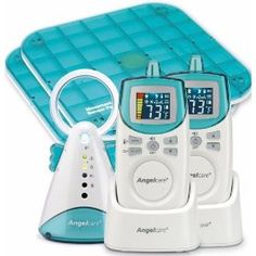 Anglecare baby monitor for when baby moves to her own crib.  Monitors breathing, movement, sound, temperature.  Very useful.  We have a separate camera monitoring system so this was very complimentary.