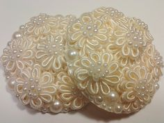 Cream Colored Flower And Pearls Pasties DIY