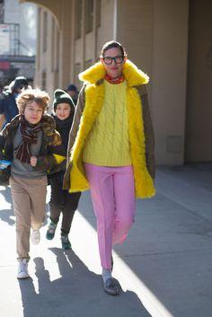 New York Fashion Week Street Style - Jenna Lyons Creative Director of J Crew