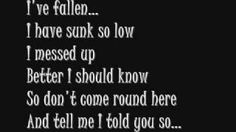 Fallen - Sarah McLachlan, via YouTube.