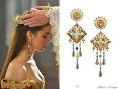 Vicki Sarge Basilica Oxidized Gold-Plated Swarovski Crystal Earrings