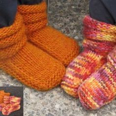 KNITTING PURE AND SIMPLE PATTERN 113 CHILDRENS MUCKLUK SLIPPERS