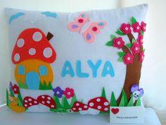 İsme Özel Bebek Odası Yastığı (Takı Yastığı) #bebek odasi,#bebek