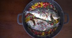 """The term """"Acqua Pazza"""" meaning """"Crazy Water"""" is used in Italian cuisine to refer to a recipe for poached white fish, or to simply refer to the lightly herbed broth used to poach. Italian Recipes, Pork, Food And Drink, Fish, Meat, Cooking, Paleo, Foods, Gastronomia"""