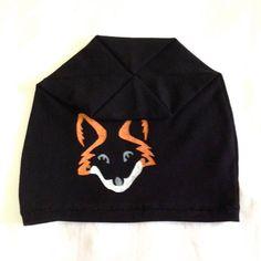 Fox beanie  Slouchy beanie  Slouch beanie  Womens accessories Black beanie Black hat for women  by COOLLeggings