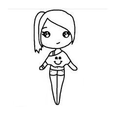 chibi template app - shrine maiden girl anime cute girls pinterest flickor