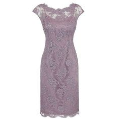 Sheath Bateau Cap Sleeves Knee-Length Grey Lace Mother of The Bride Dress with Beading
