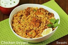 Easy chicken biryani recipe in pot or pressure cooker with video & step by step photos. Make the simplest flavorful & tasty chicken biryani at home Chicken Biryani Recipe Hyderabadi, Easy Chicken Biryani Recipe, Biryani Chicken, Easy Chicken Recipes, Rice Recipes, Indian Food Recipes, Cooking Recipes, Healthy Recipes, Ethnic Recipes