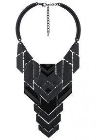 sweet deluxe - FREYA - Collier plastron noir à formes géométriques  - black