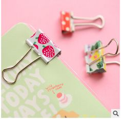 6 pcs/ pack Fresh Style Flower Printed Metal Binder Clips Notes Letter Paper Clip Office Supplies FOD #CLICK! #clothing, #shoes, #jewelry, #women, #men, #hats, #watches
