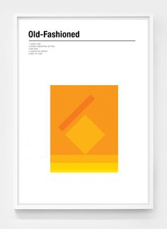 Stylish, Geometric Cocktail Posters That Would Make 'Mad Men' Characters Drool Old Fashioned Drink, Old Fashioned Cocktail, Menu Design, Design Art, Layout Design, Interior Design, Old Fashion Image, Mad Men Characters, Classic Cocktails