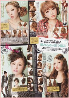 Japanese hairstyles 2011! i love the bottom left and right ones. definitely going to try them out!