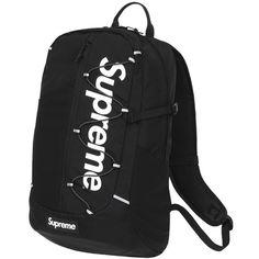 Supreme Backpack Black SS17 KOLEKTORZ ❤ liked on Polyvore featuring bags, backpacks, daypack bag, knapsack bag, rucksack bags, day pack backpack and backpack bags