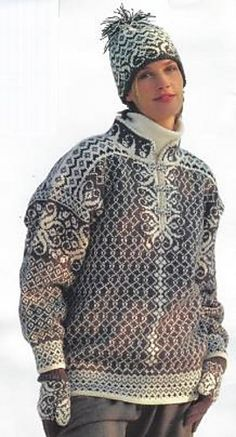 This stunning traditional design from the Dale Garn archives is perfect in Falk or Heilo. Sized for men and women, the pattern includes pullover, hat and gloves which would be listed separately here. Baby Knitting Patterns, Knitting Designs, Sweater Patterns, Knitting Projects, Baby Sweaters, Wool Sweaters, Knit Stranded, Fox Scarf, Crochet Coat