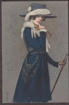 Vintage postcard early 1900's by Enrico Colombo.