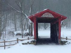 The kissing bridge in Snowshoe West Virginia