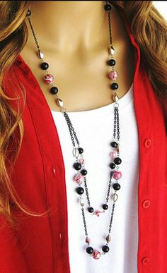 38 Trends A Startling Fact About Jewelry Necklaces Layered Uncovered Bead Jewellery, Wire Jewelry, Jewelry Crafts, Jewelery, Jewelry Necklaces, Bracelets, Handmade Jewelry Designs, Beaded Jewelry Patterns, Handcrafted Jewelry