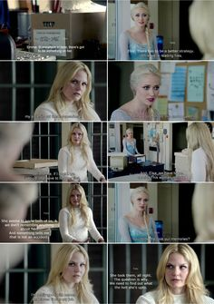 """You think she took our memories?"" Elsa and Emma - 4 * 5 ""Breaking Glass."" #FrozenSwan"