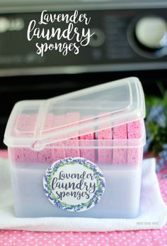 These are some amazing laundry hacks! I love the idea of these reusable lavender scented fabric softener sponges!