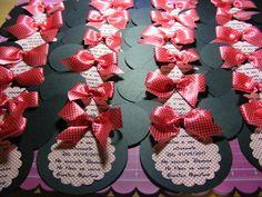 Convite de aniversário Minnie.   Com pirulito. R$5,50