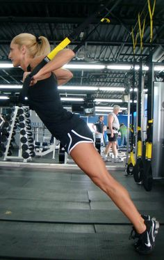 TRX Full Body Workout ~ These bands are at our gym. Good to know some good exercises to do on them!
